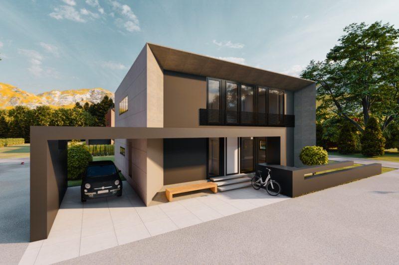 Modernes Stadthaus Flachdach