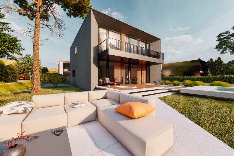 Architekt Einfamilienhaus Flachdach