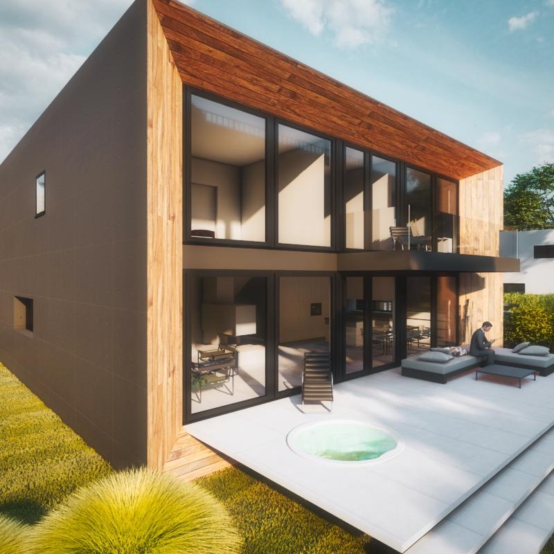 Modernes Haus Kubus