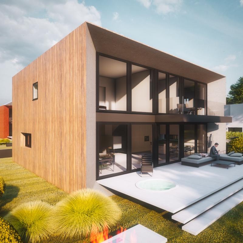 Modernes Kubushaus