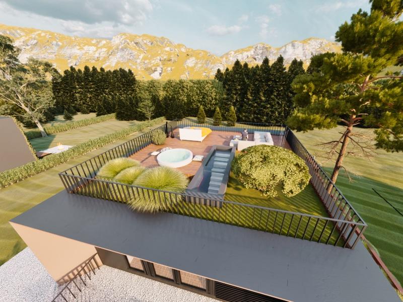 Kubushaus mit Dachterrasse